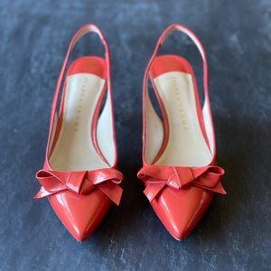 Ivanka Trump Coral Bow Heels